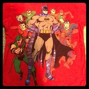 Like New DC Comics kids 4 T-shirt! Superheroes!